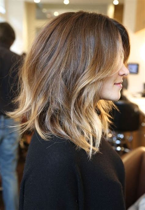 messy bob haircuts with ombre messy ombre mid length bob hair makeup pinterest