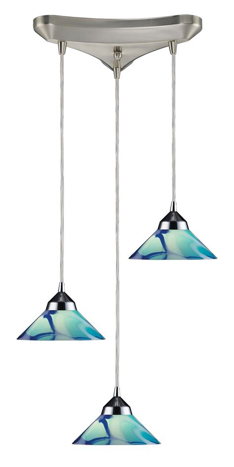 Multi Pendant Light Fixtures Elk Lighting 1477 3car Refraction Multi Pendant Ceiling Fixture