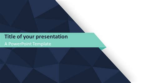 Abstract Triangle Pattern Powerpoint Template Presentationgo Com Widescreen Powerpoint Templates
