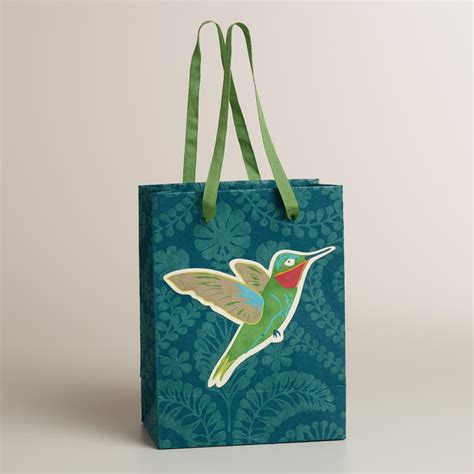 Handmade Gift Bag - small tip on bird handmade gift bag world market