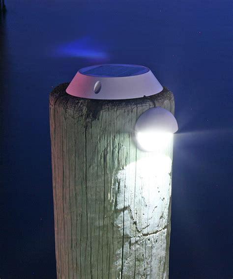 led dock piling lights solar piling lights for docks and decks