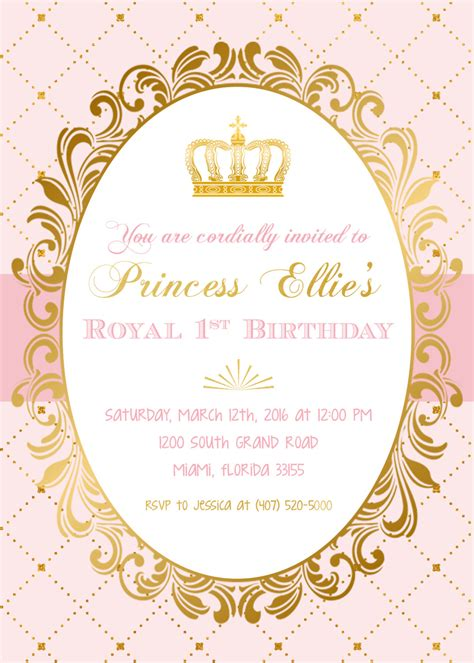 Princess Theme Wedding Invitations by Princess Birthday Invitation Princess Invitation Pink