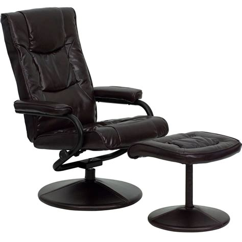 leather recliner chair with footstool leather recliner and ottoman in recliners
