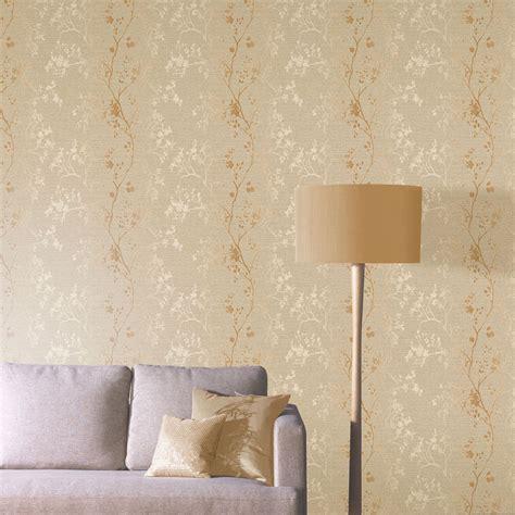 Rose Gold Wallpaper Ebay | arthouse precious metals orabella floral wallpaper rose