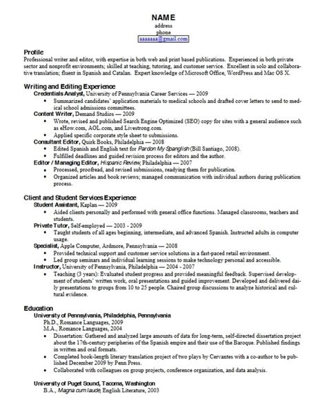 Upenn Resume by Upenn Career Services Resume Resume Ideas