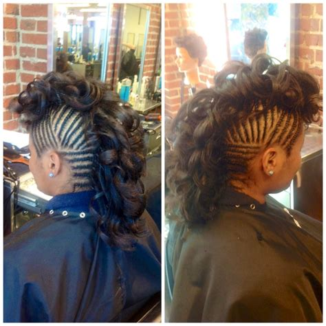 hair curly hair mohawk curly mohawk braids design