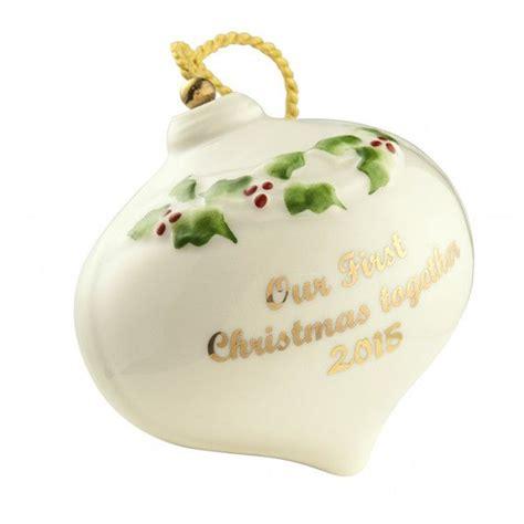 belleek ornaments our bauble 2015 ornament by belleek