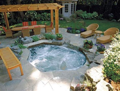 backyards with hot tubs betz inground spa backyard pinterest backyard hot