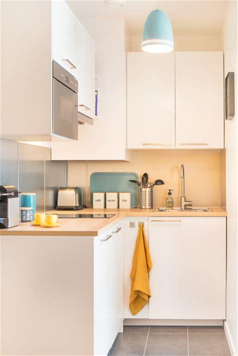 Compact Kitchen Island studio 25m2 montmartre scandinave cuisine other