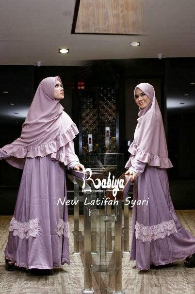 Pusat Gamis Syari Afika Lavender Syari new latifah dusty purple baju muslim gamis modern