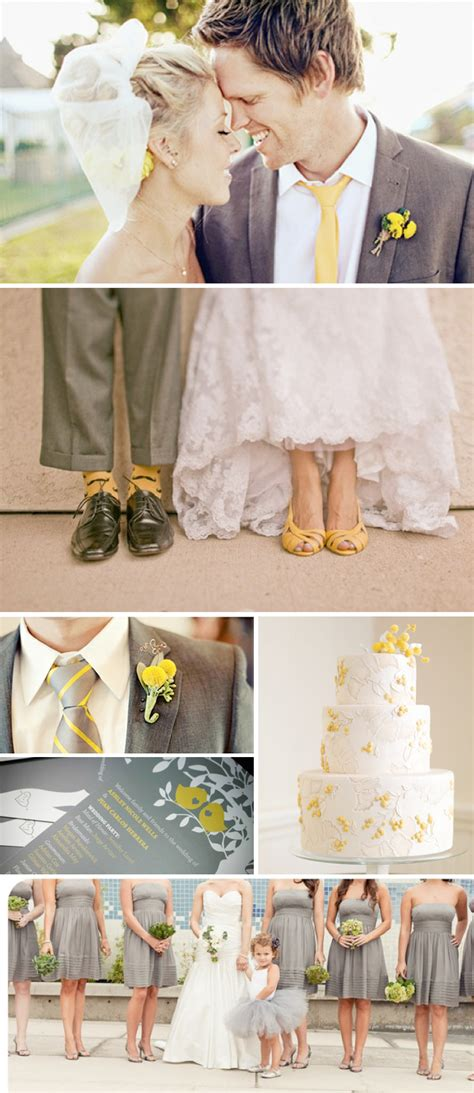 grey theme grey yellow wedding theme weddings by lilly