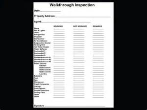 rental walk through template checklist for property inspection walkthrough walks