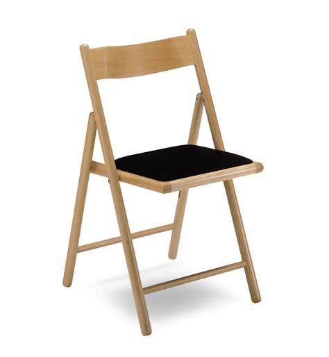 sedia pieghevole imbottita sedia pieghevole con seduta imbottita in faggio idfdesign
