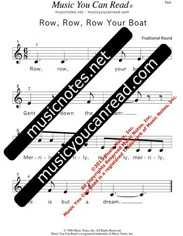 row your boat song origin quot row row row your boat quot traditional lyrics music notes