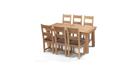breton oak 180 cm dining table and 6 chairs lifestyle