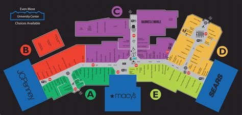 park mall map mall map of park mall a simon mall mishawaka in