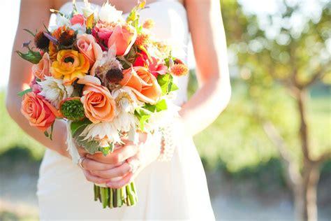 Bright Wedding Flower Picture by Cinnamon Citrus Bridal Bouquet Wedding Flowers