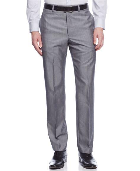 light grey dress pants calvin klein slim fit solid dress pants in gray for men lyst