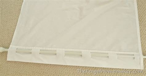 how to sew back tab curtains no sew inexpensive long curtains made from sheets