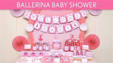 Diy Baby Shower Party Favors - ballerina baby shower ideas ballerina s49 youtube