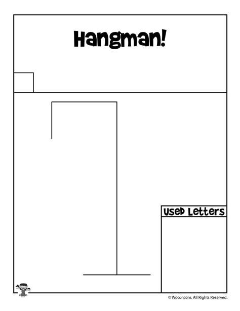 Printable Hangman Game   Hangman game, Hangman words