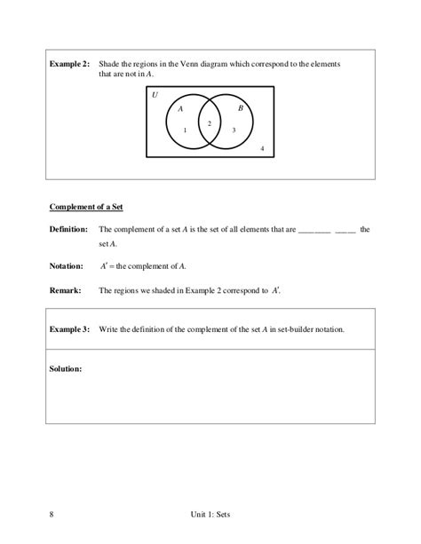 sets and venn diagrams notes venn diagram lecture notes image collections how to guide and refrence