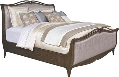 truffle bed cashmera rich truffle king upholstered sleigh bed 4860