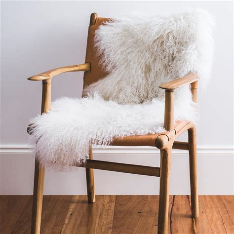 Sheepskin Rug On Sofa by White Mongolian Sheepskin Throw Hides Of Excellence