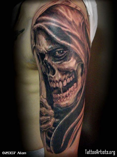 grim reaper forearm tattoo grim reaper artists org