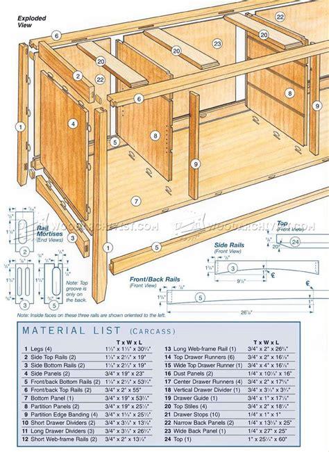 cherry sideboard plans woodarchivist