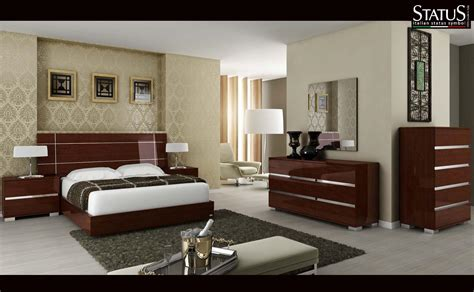 Contemporary King Bedroom Sets King Size Modern Design Bedroom Set Walnut 5 Pc Bed Made In Italy Ebay