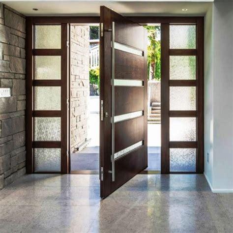 china  villa main entry door modern design pivot wood