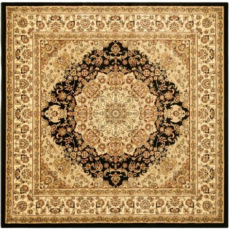 8 x 8 square area rugs safavieh lyndhurst black ivory 8 ft x 8 ft square area rug lnh222a 8sq the home depot