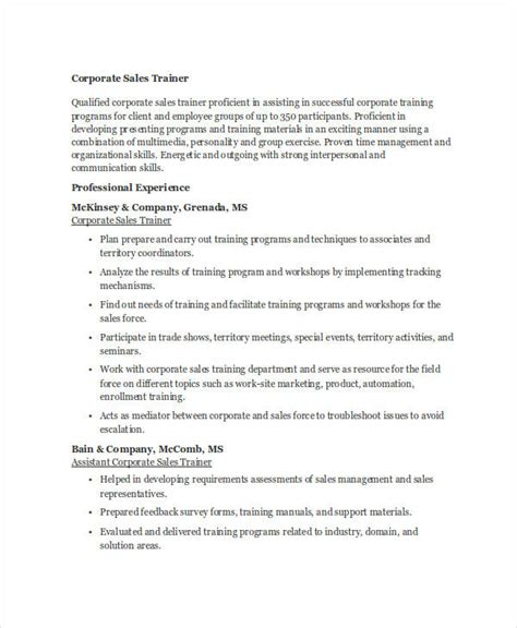 corporate resume sles 30 sales resume templates pdf doc free premium