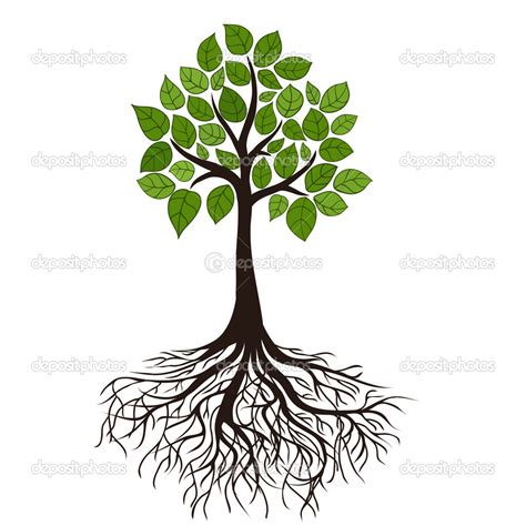 18 tribal vector tree with roots images tree with roots