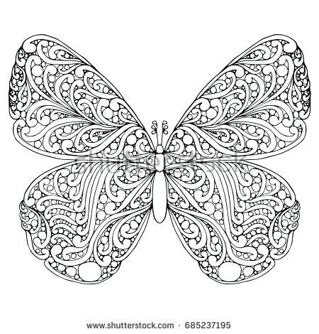 butterfly doodle coloring pages zentangle doodle patterned fantasy butterfly isolated