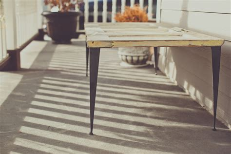 Tapered Angle Iron Table Legs   Modern Legs
