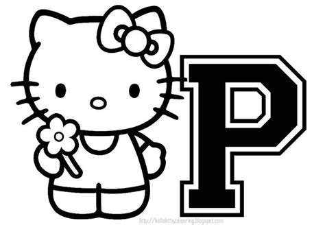 hello kitty coloring pages with letters 27 best hello kitty letters images on pinterest hello