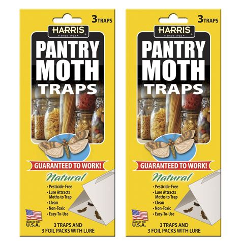 Pantry Moths Traps by Harris Pantry Moth Traps With Lure 6 Trap Value Pack
