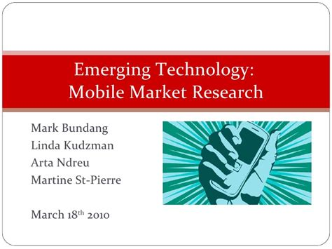 Market Research Mba Projects by Mba 615 Mobile Market Research Mis Project