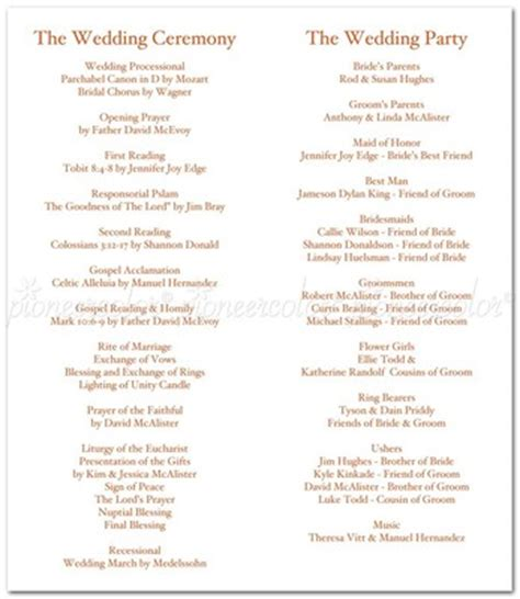 Wedding Ceremony Flow by What Do I Include In A Ceremony Program Weddings