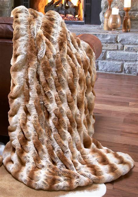 luxury fur throws for sofas luxury fashion designer couture latte mink faux fur throw