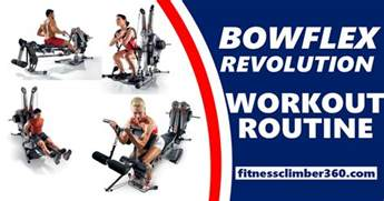 a complete bowflex revolution workout plan with exercise