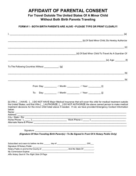 authorization letter for minor to travel to mexico parental consent form for child travel free