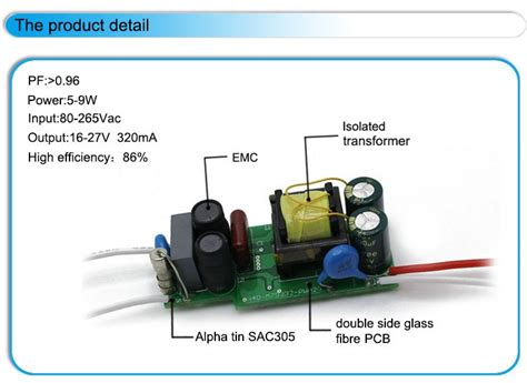 led light bulb circuit led bulb power supply circuit 5w 6w 7w 8w 9w 320ma rubicon
