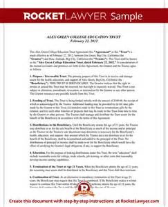 education trust college trust fund rocket lawyer