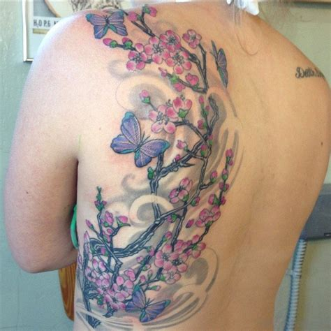 62 wonderful cherry blossom tattoos for back