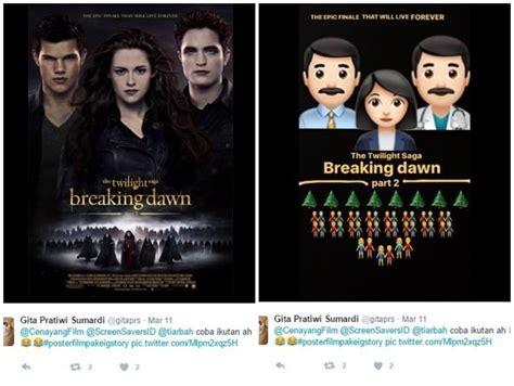 emoji film indonesia 15 poster film yang didesain ulang jadi imut pakai emoji