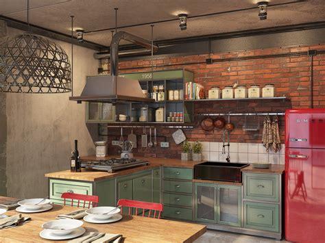 industrial loft  golovach tatiana andrey kot design