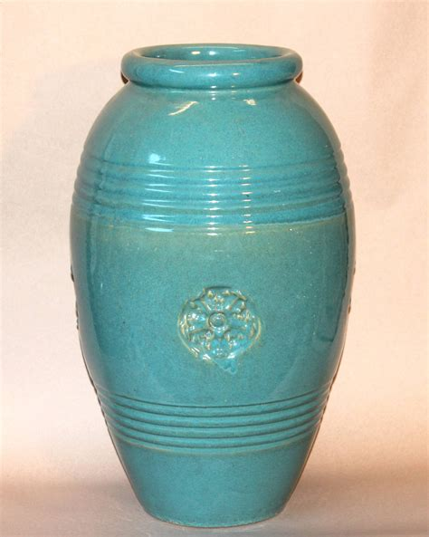 Large Urns And Vases by Large Vintage Bauer California Pottery Garden Urn Jar